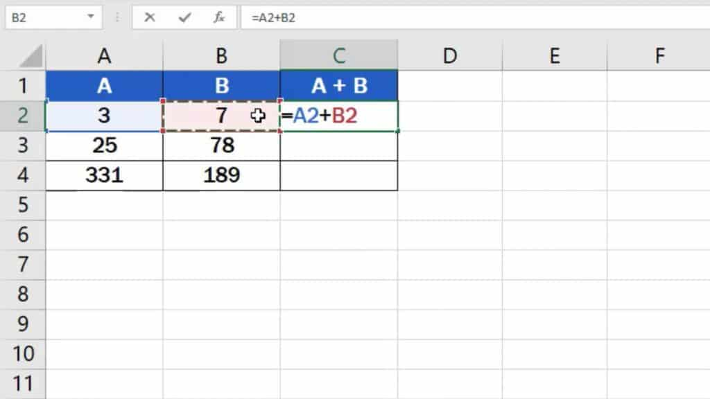 How to add numbers in Excel (Basic way) - pick the numbers you want to add