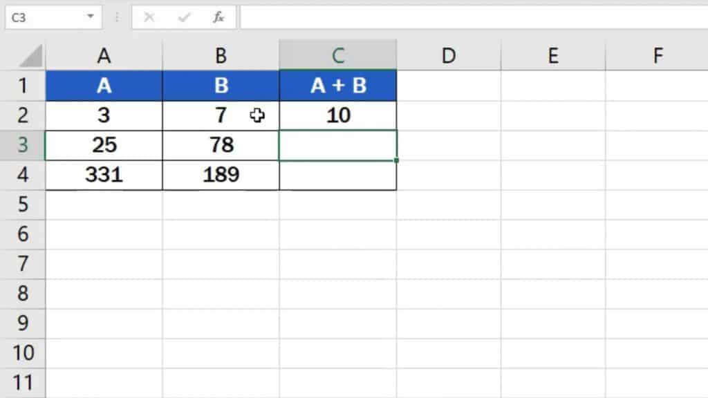 How to add numbers in Excel (Basic way) - result of adding