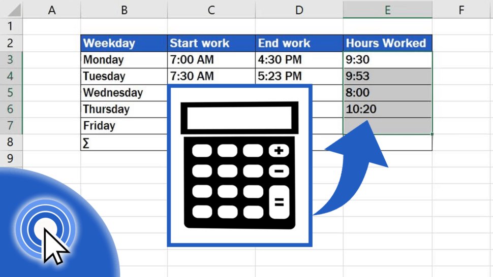 How to Calculate Hours Worked in Excel