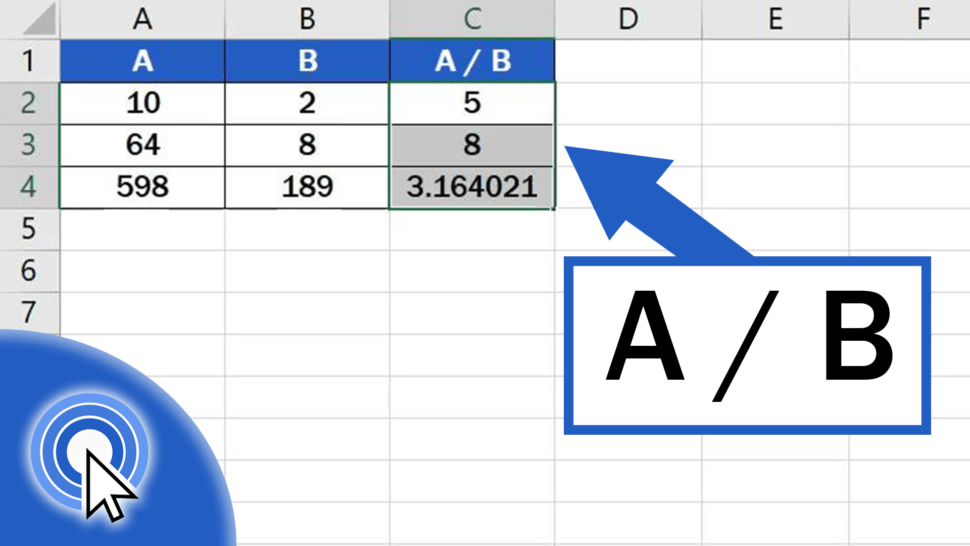 How to divide numbers in Excel (Basic way)