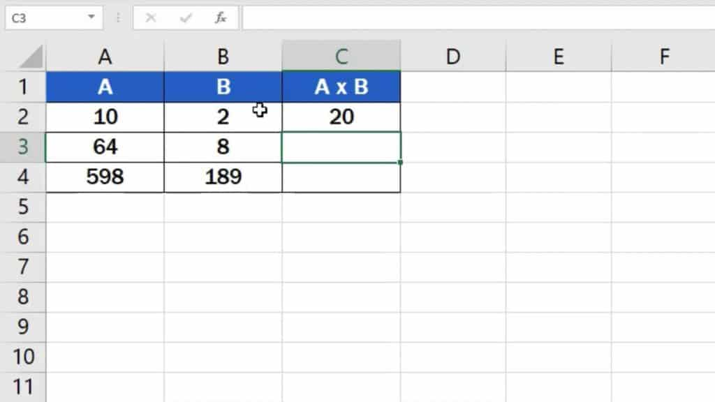 How to multiply numbers in Excel (Basic way) - result of multiplying