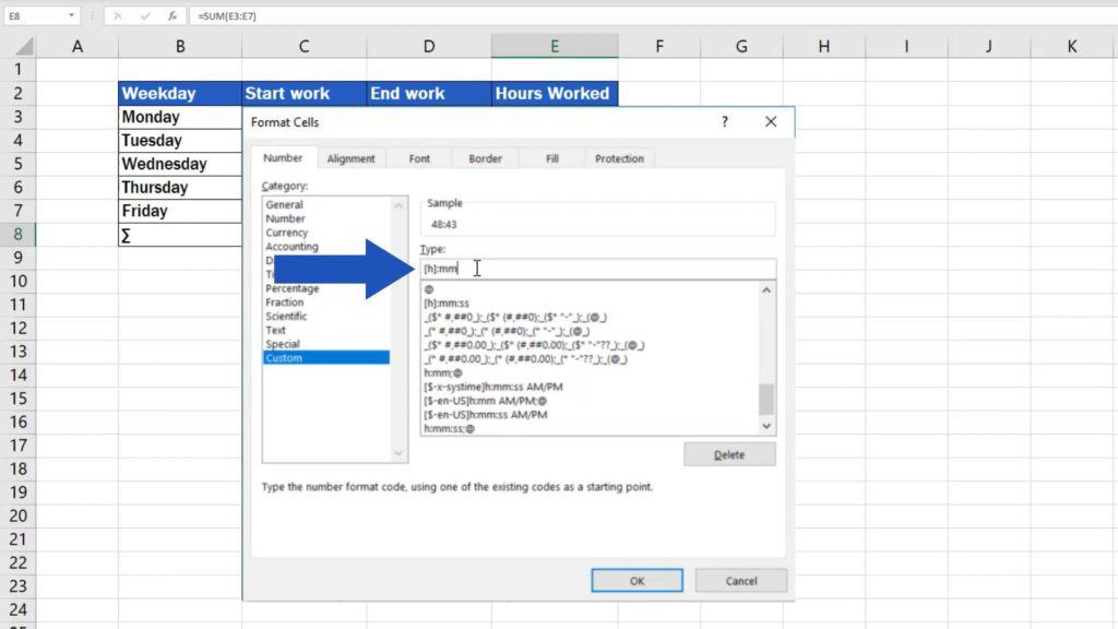 How to Sum Time in Excel