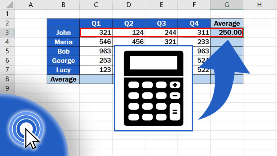 How to Calculate an Average in Excel