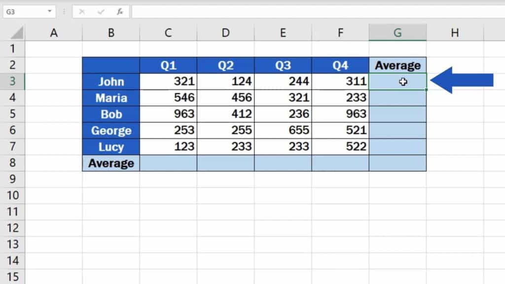 How to Calculate the Average in Excel - result
