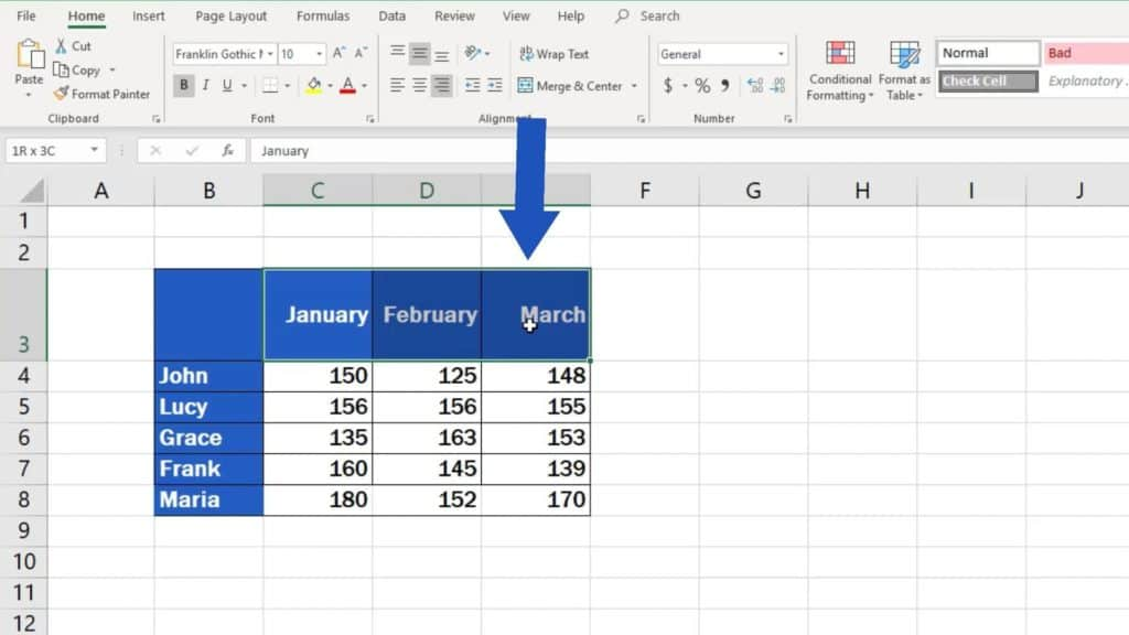 How to Change Text Direction in Excel - select cells in which you want to wrap text
