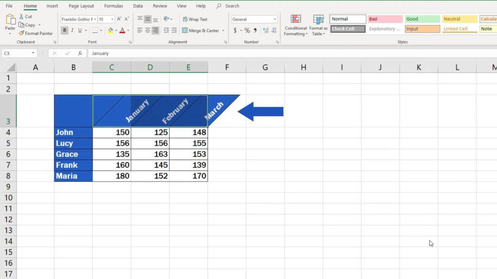 How to Change Text Direction in Excel - text orientation