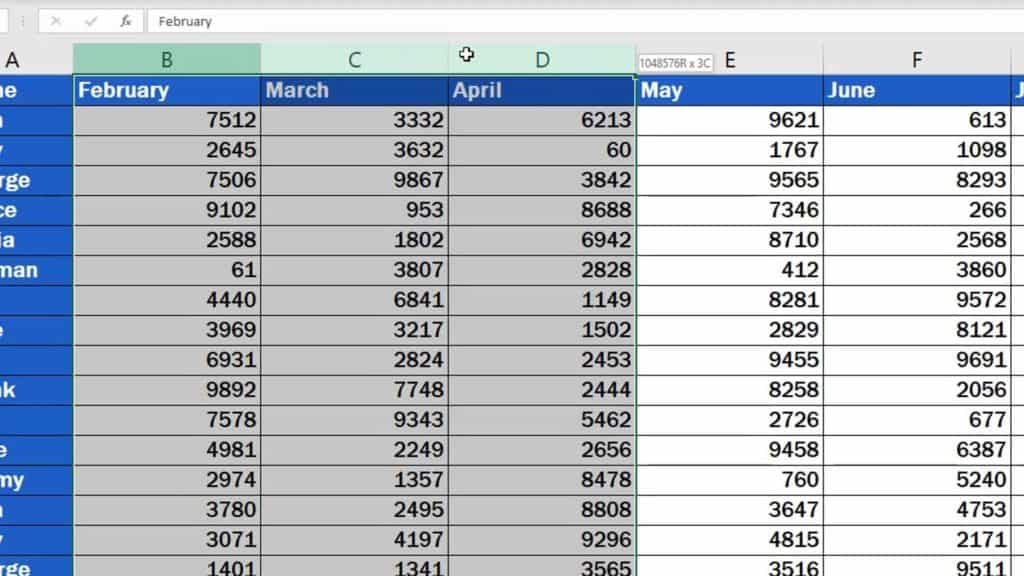 How to Delete Columns in Excel - delete multiple columns