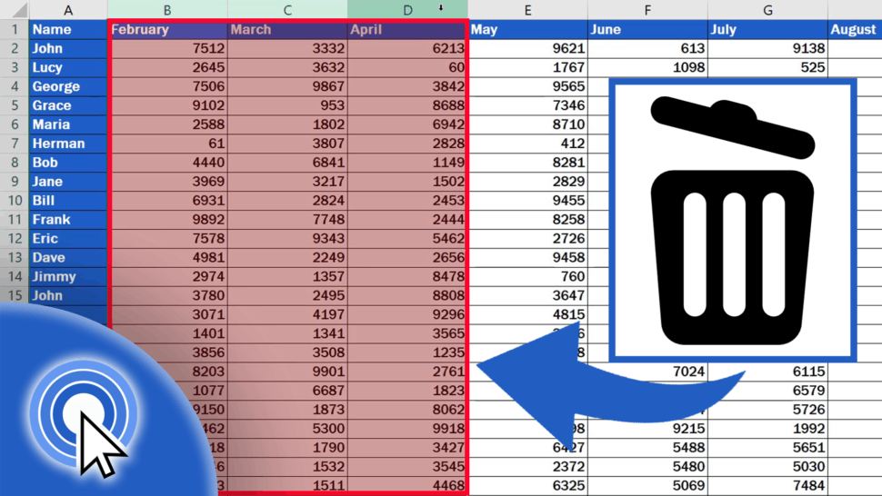 How to Delete Colums in Excel