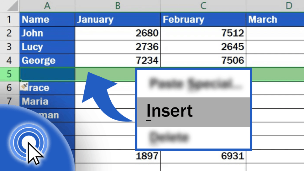 How to Insert Row in Excel