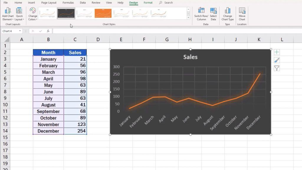 How to Make a Bar Graph in Excel - line graph