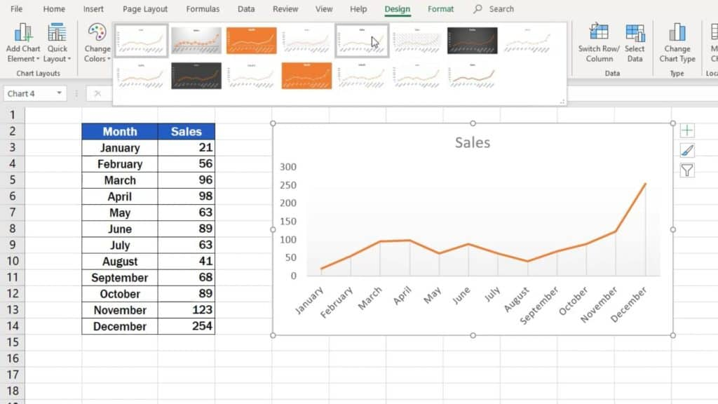 How to Make aLine Graph in Excel - graph design