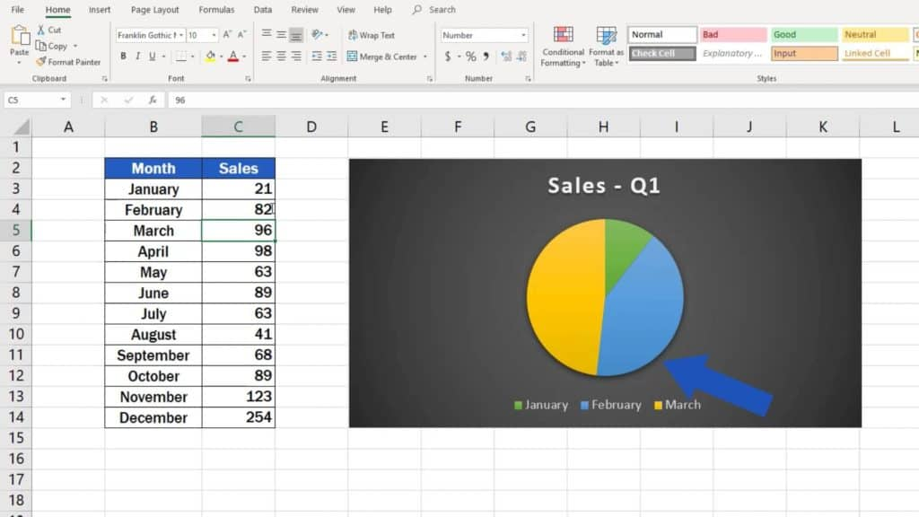 How to Make aPie Chart in Excel - dynamic graph