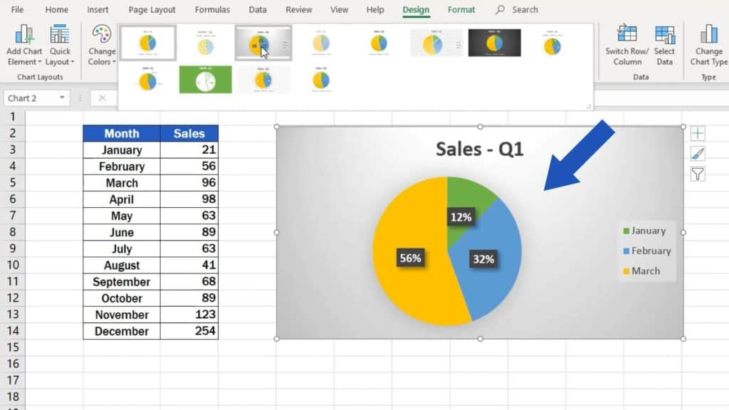 How to Make aPie Chart in Excel - pie chart designe