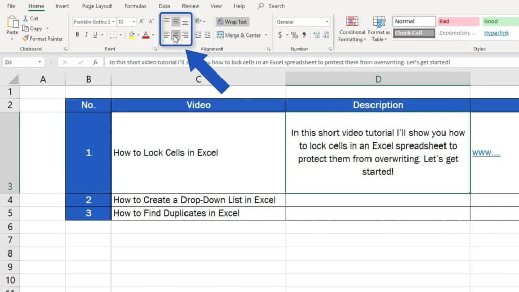 How to Wrap Text in Excel - wrap text within one row