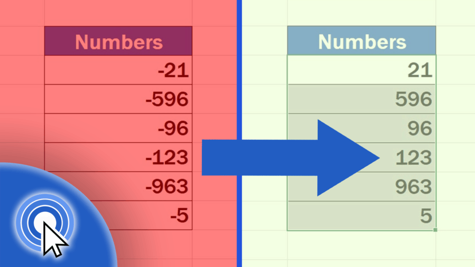 How to Change Negative Numbers to Positive in Excel