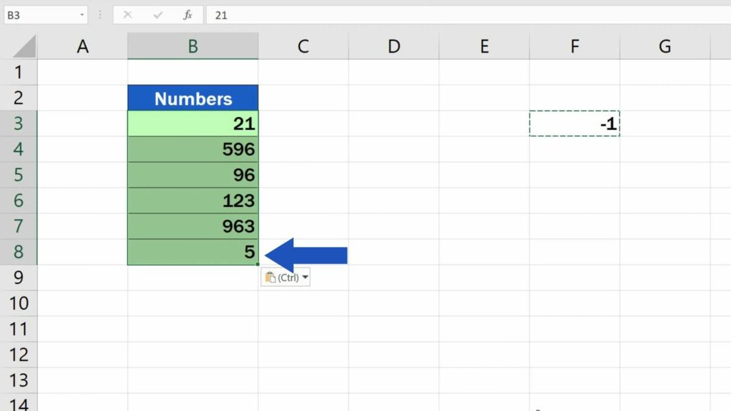 How to Change Negative Numbers to Positive in Excel - change number in the same column