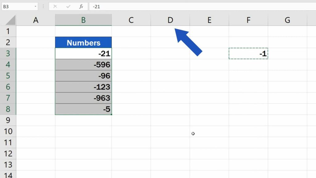 How to Change Negative Numbers to Positive in Excel - get positive numbers in other column