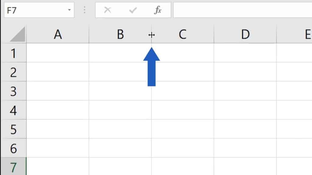 How to Change the Width of aColumn in Excel - adjust the width of the column in Excel