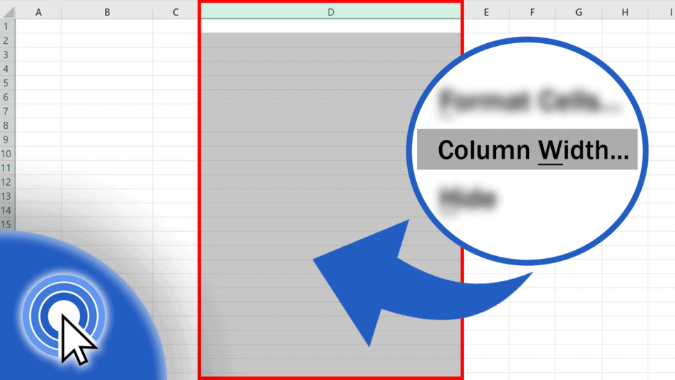 How to Change the Width of a Column in Excel