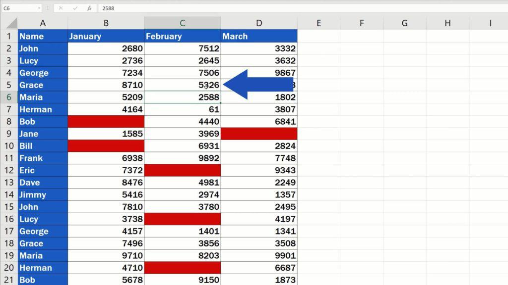 How to Highlight Blank Cells in Excel (Conditional Formatting) - disappeared highlighting