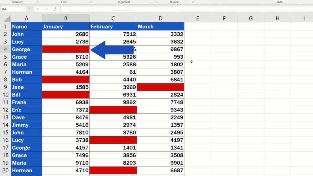 How to Highlight Blank Cells in Excel (Conditional Formatting) - excel highlights blank cells