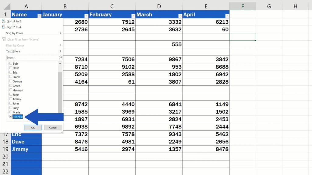 How to Remove Blank Rows in Excel - ADVANCE - delete blank cells