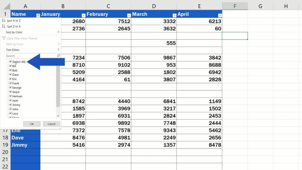 How to Remove Blank Rows in Excel - ADVANCE - filter option