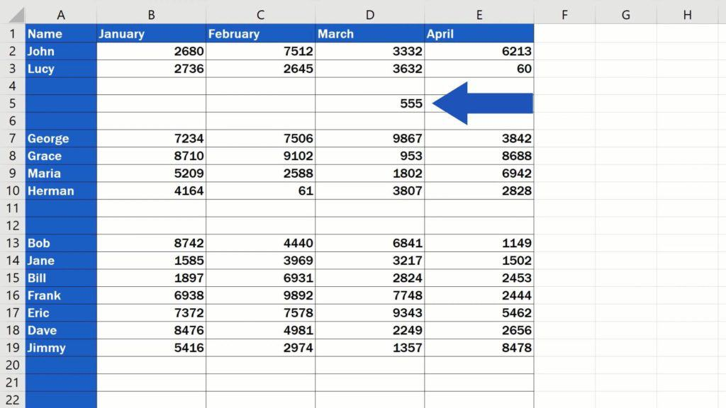 How to Remove Blank Rows in Excel - ADVANCE - not absolutely blank row