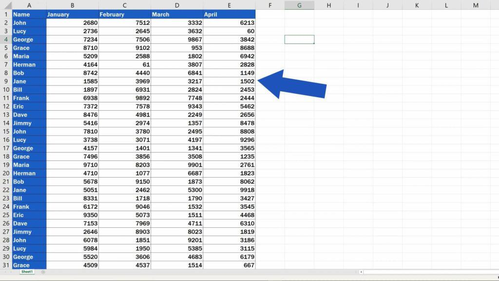 How to Remove Blank Rows in Excel - clear table from blank rows