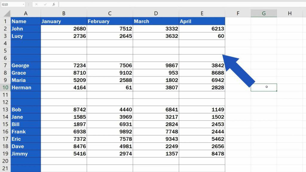How to Remove Blank Rows in Excel - completely blank rows