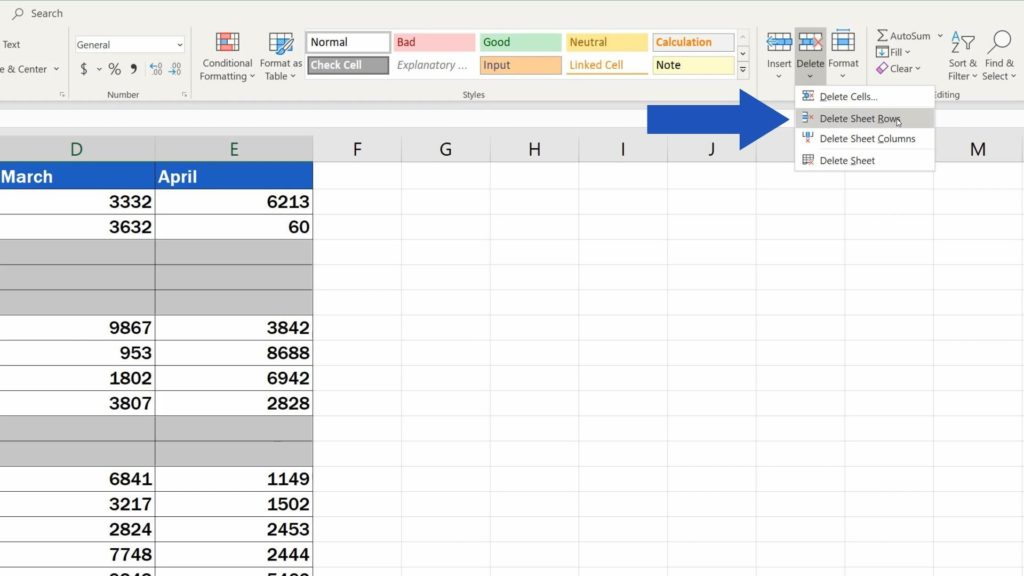 How to Remove Blank Rows in Excel - delete sheet rows