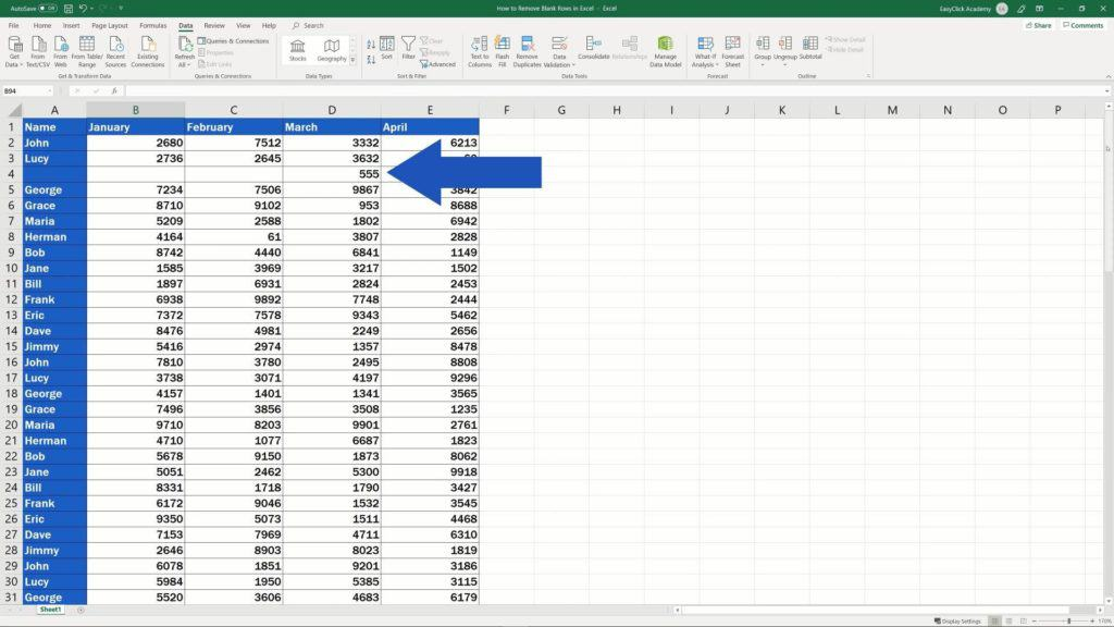 How to Remove Blank Rows in Excel - dont loose any data while deleting empty rows