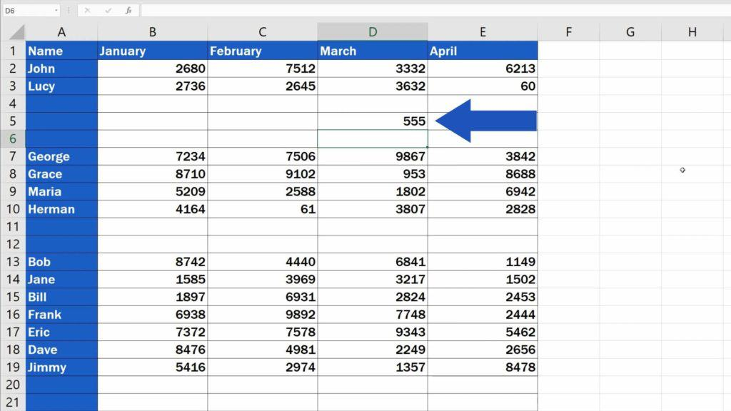 How to Remove Blank Rows in Excel - loosing data when delete blank rows