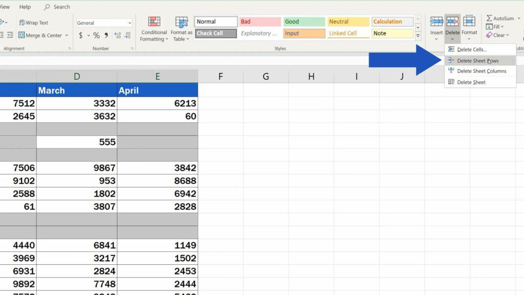 How to Remove Blank Rows in Excel - lost date while removing blank rows