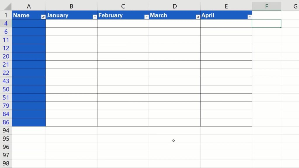 How to Remove Blank Rows in Excel - use filter