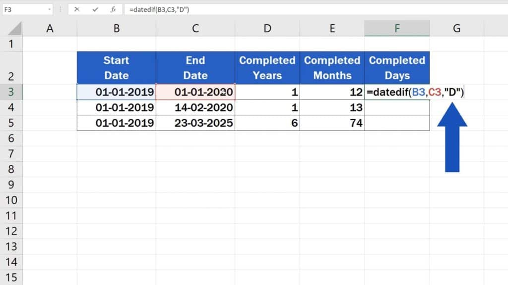 How to Calculate Difference Between Two Dates in Excel - count days difference in excel