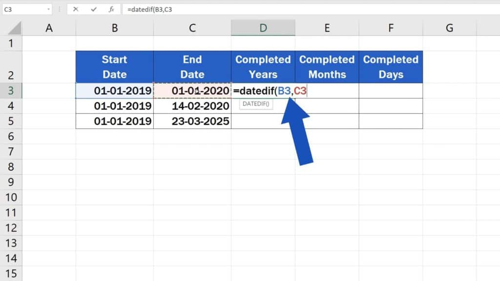 How to Calculate Difference Between Two Dates in Excel - dates difference in excel