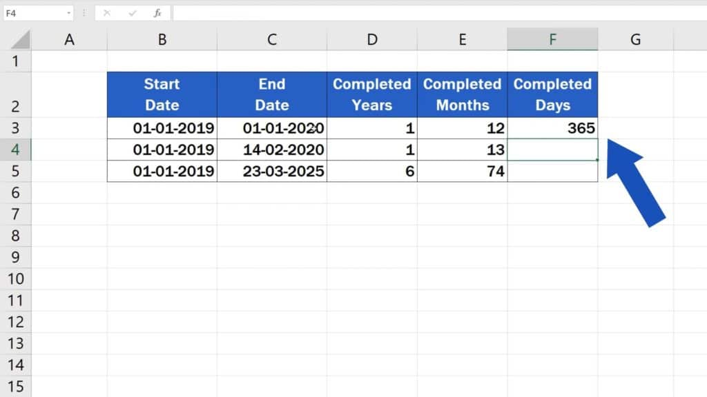 How to Calculate Difference Between Two Dates in Excel - days difference in excel