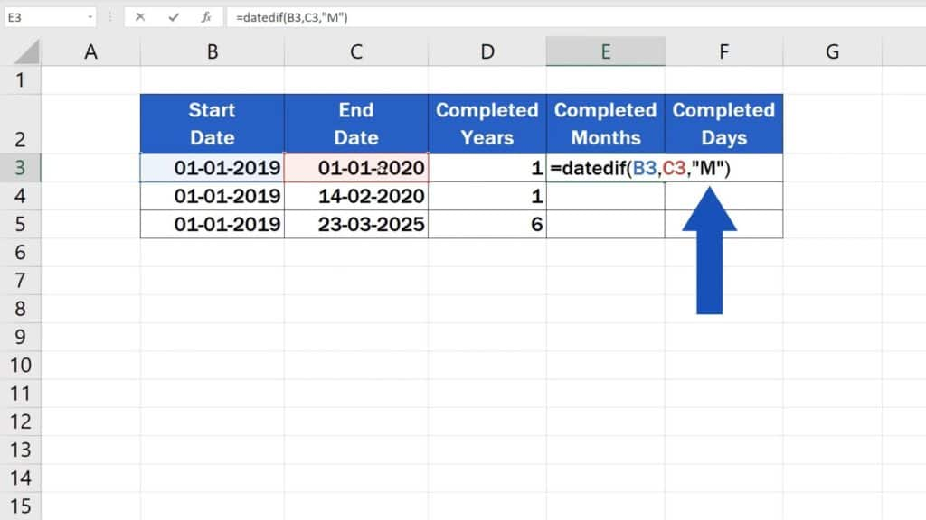 How to Calculate Difference Between Two Dates in Excel - difference between months in excel