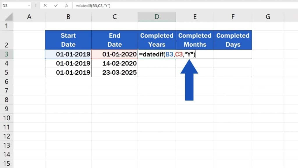 How to Calculate Difference Between Two Dates in Excel - years difference in excel