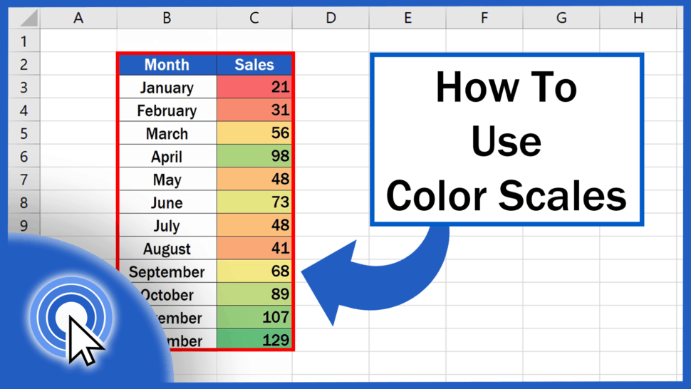 How to Use Color Scales in Excel (Conditional Formatting)
