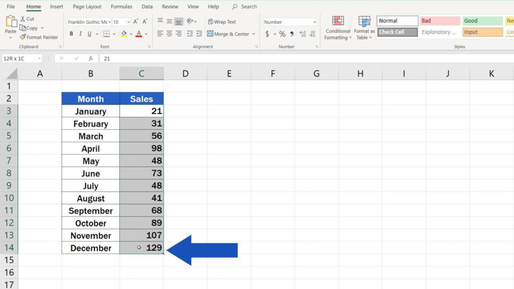 How to Use Color Scales in Excel (Conditional Formatting) - select range of the table with heatmap