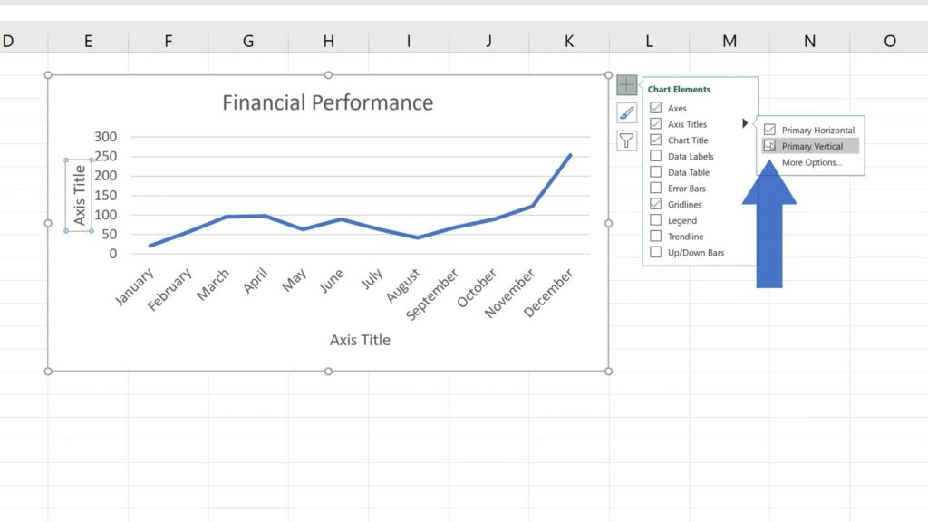 How to Add Axis Titles in Excel - How to name vertical axis in Excel