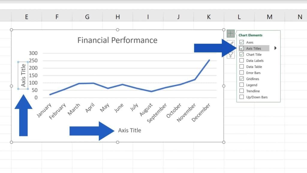 How to Add Axis Titles in Excel - horizontal and vertical axis in Excel