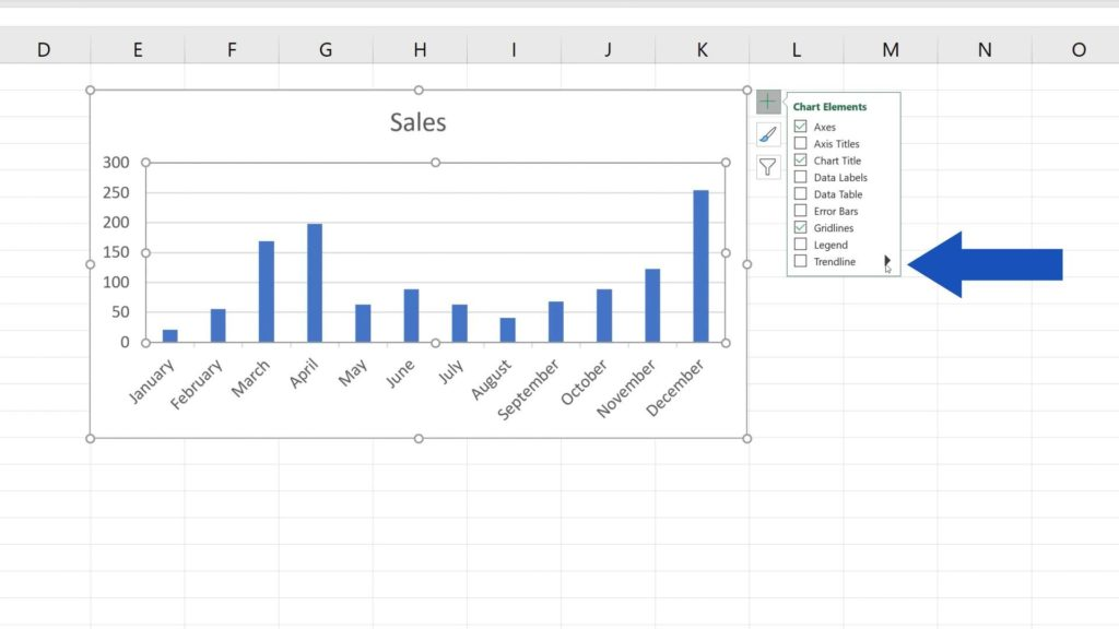 How to Add a Trendline in Excel - how to create trendline in Excel