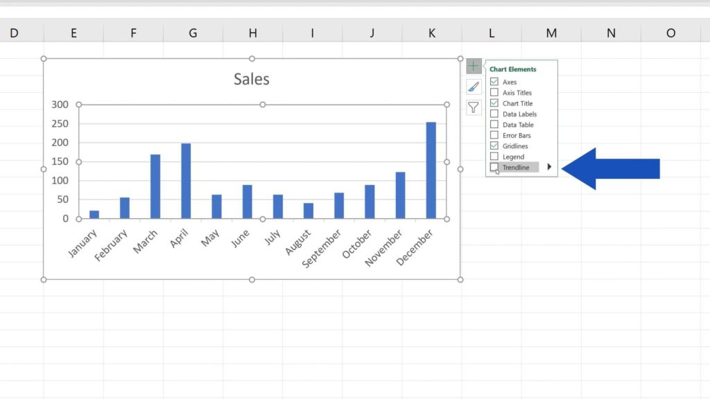 How to Add aTrendline in Excel - removing trendline in Excel