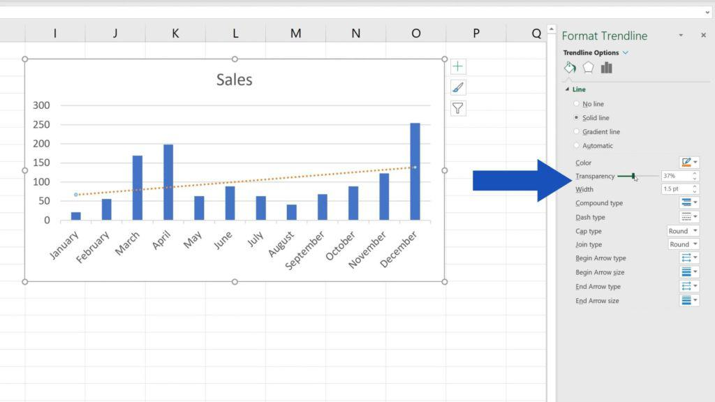How to Add aTrendline in Excel - setting of trendline in Excel