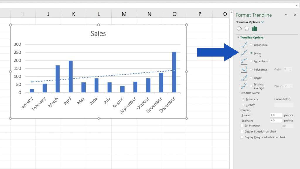 How to Add aTrendline in Excel - what are trendline options in Excel