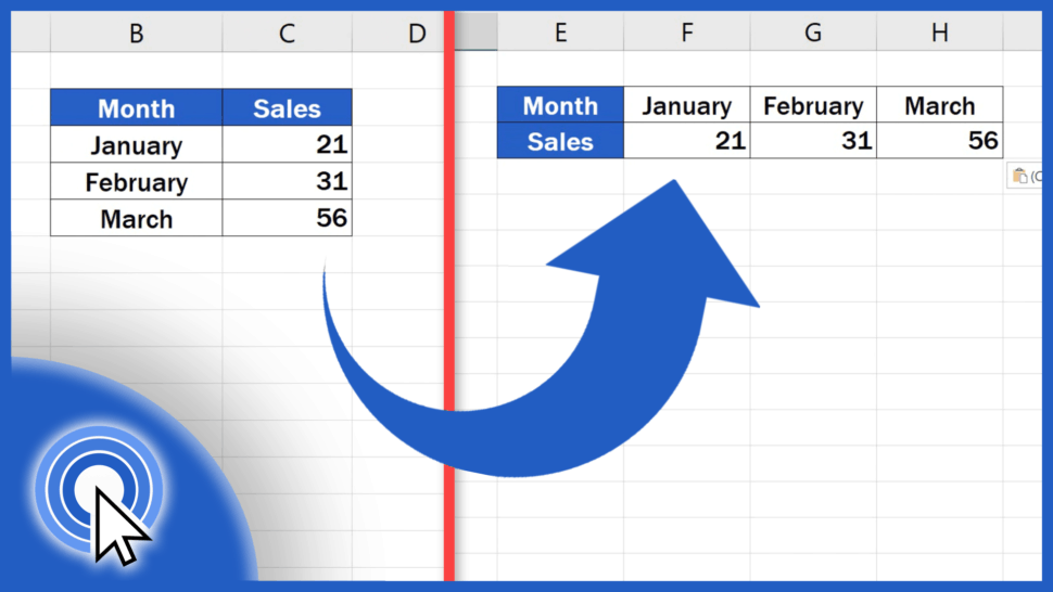 How to Switch Rows and Columns in Excel