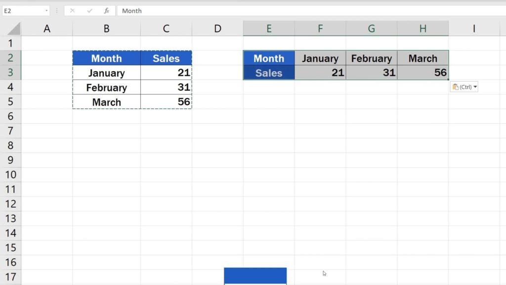 How to Switch Rows and Columns in Excel (the Easy Way) - switched rows in Excel